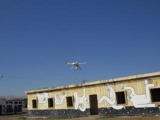 Drone over old Jordanian army base. Kalya Beach