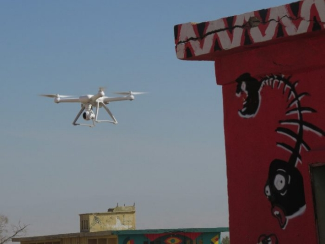 Play drone over old Jordanian base, Project minus 430.Kalya