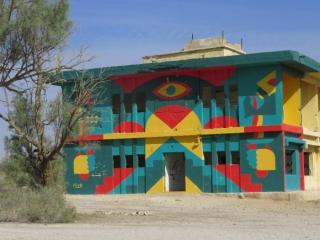 Mural. Kalya Beach. Old Jordanian army base