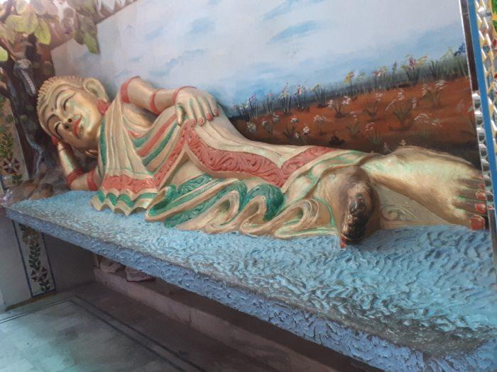 Reclining effeminate Buddha at Mata Lal Devi Ladies temple, Amritsar