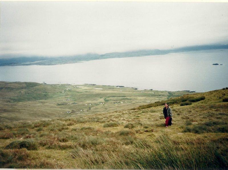 Walking the hills of Connemara, Ireland, 2003