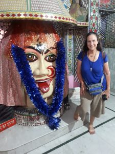 With Kali at ladies temple, Amritzar