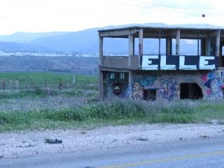 Art and Route 90 facing Jordan