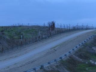 Border fences to Jordan