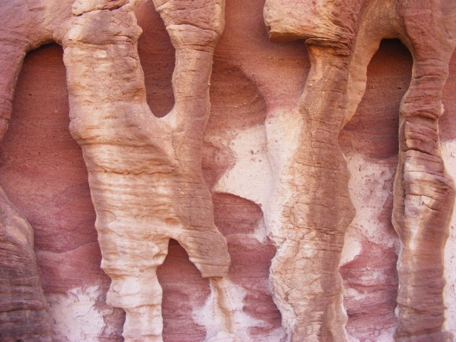 Water, wind, sand created this mini natural sculpture. Arava, Israel