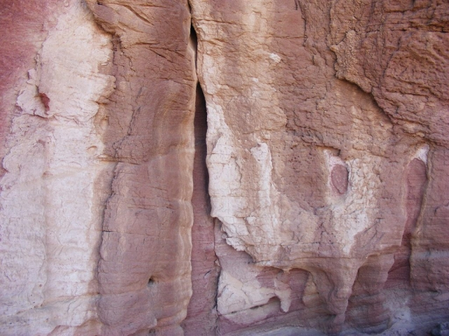 Sensual rocks in pink and white. Arava. Israel