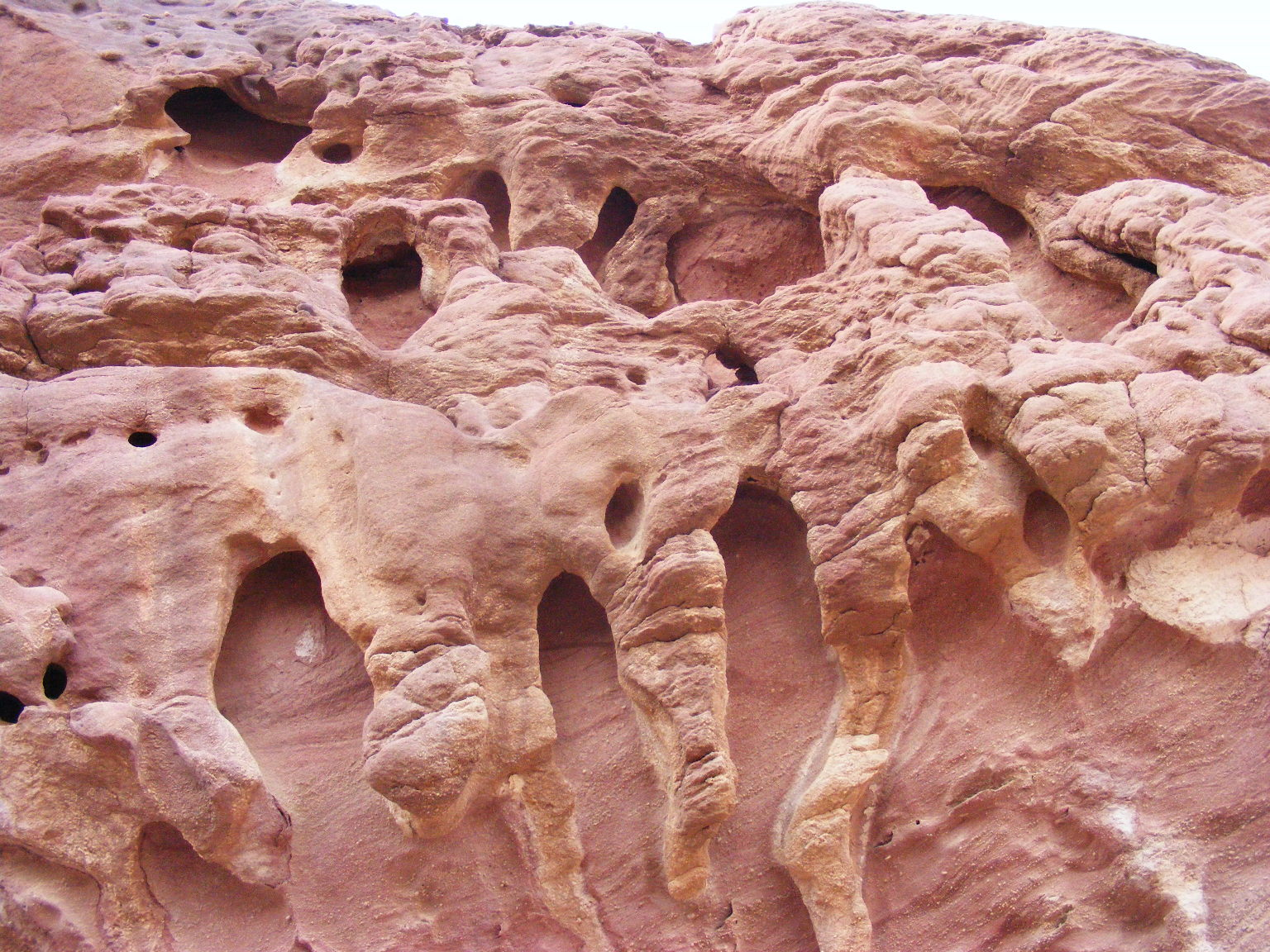Sculptures by wind and water. Painted Desert, Arava. Israel