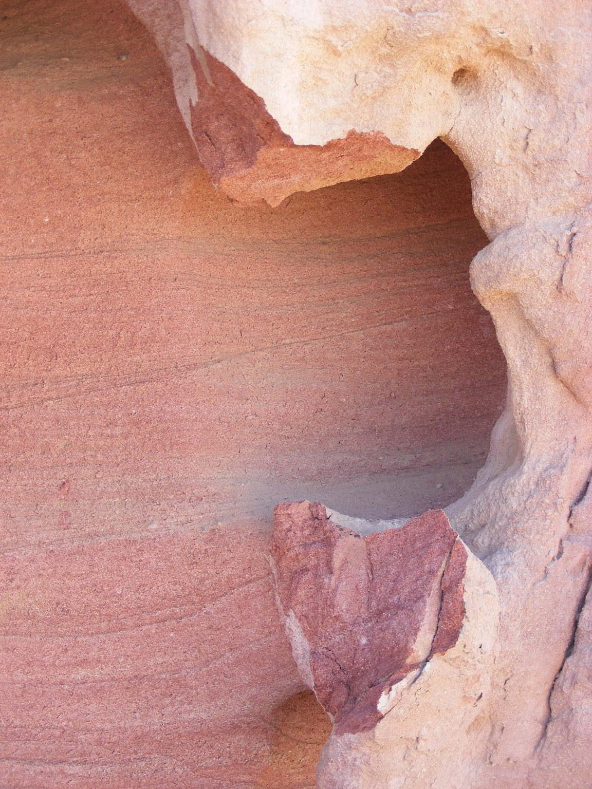 Gentle aeolian stratification in colored sandstone. Painted Desert, Arava, Israel