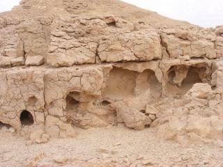 Old, wrinkeld desert. Arava, Israel