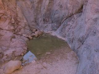 Rock rain pool (Gev) in Painted Desert, Arava, Israel