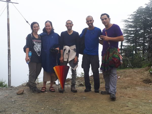 With Israeli group climbing to Dharmkot Falls