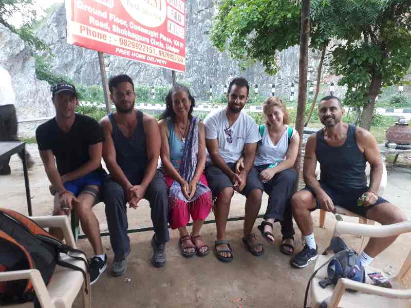 Israeli group on a jeep tour to temples outside Udaipur, Rajasthan
