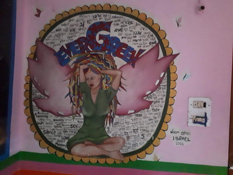 Israeli mural. Evergreen Cafe, Bhagsu, Himachal Pradesh