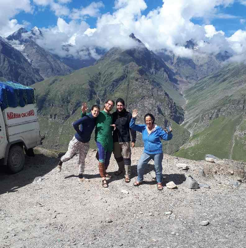 Bran, Nicky, Yair and me on way from Manali to Leh