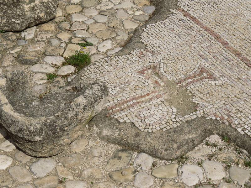Byzantian church mosaic, Neot Kedumim, Israel