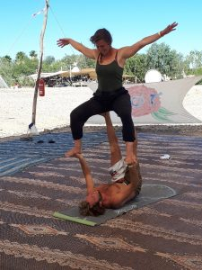 Acro yoga. Shittim Sufi Festival