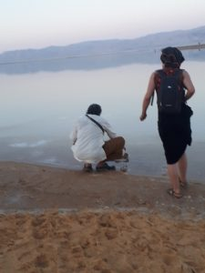 Ananda Das and Julie by Dead Sea , Ein Bokek