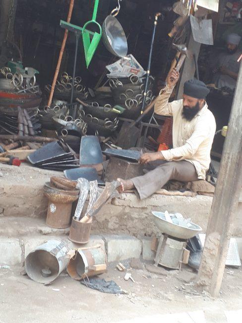 Blacksmith at work. Amritsar