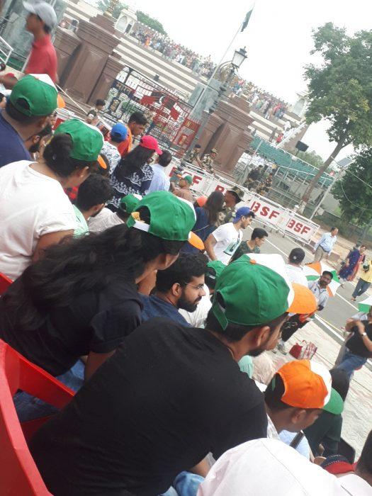 India India. Amritsar border ceremony show of patriotism