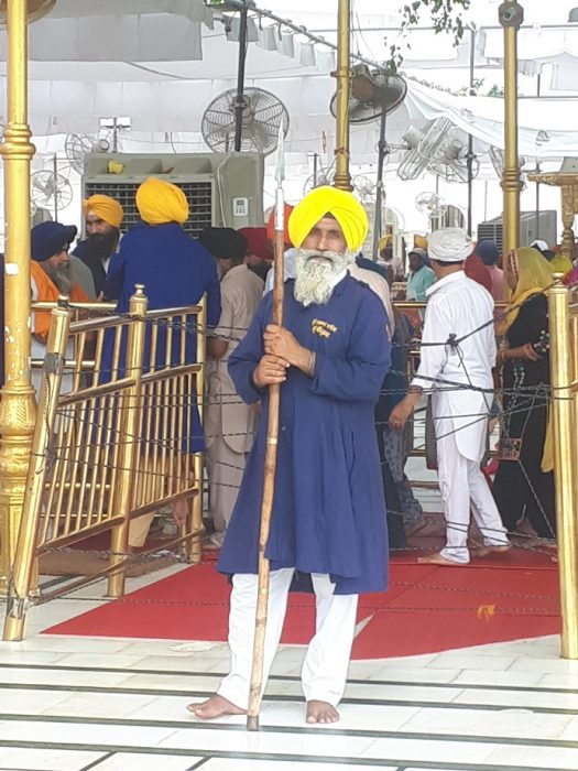 Religious police. Amritsar Golden Temple