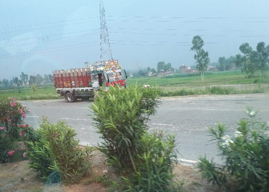 Typical colorful truck on way to Amritsar, Punjab