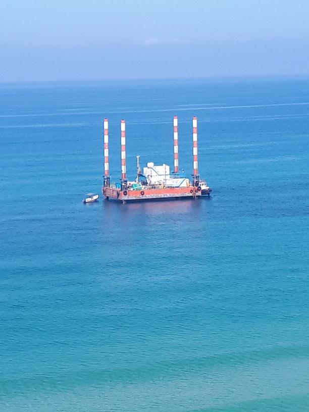 Gas installation off-shore Netanaya