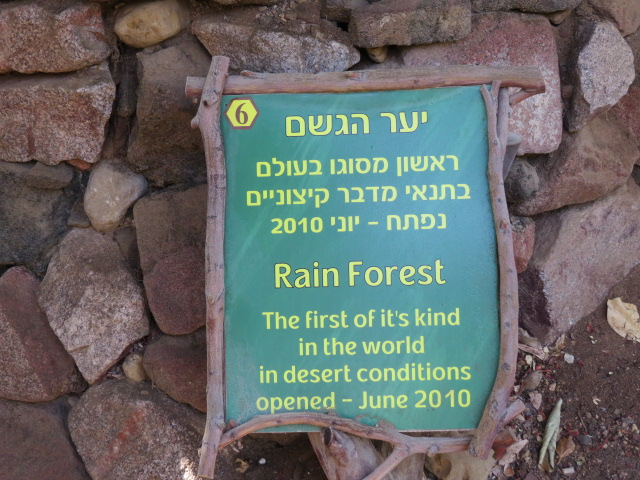 Rainforest in extreme desert - first of its kind, Eilat, Israel