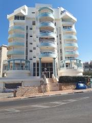 Nice, light Meditteranean architecture by sea. Netanya