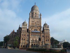 BMC Mumbai, seen from taxi to airport