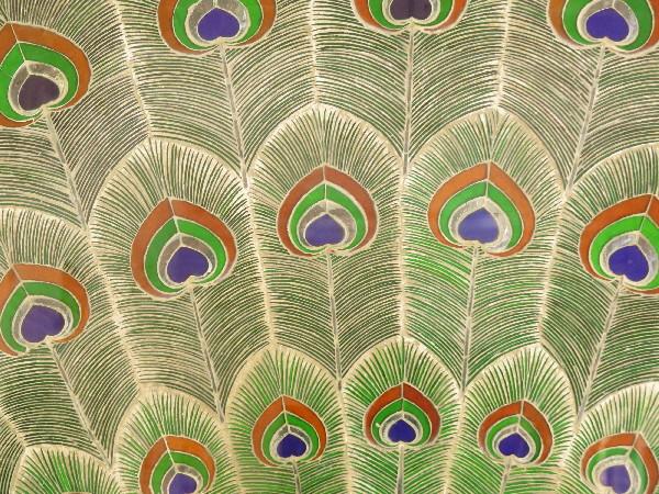 Detail of peacock, Udaipur City Palace Rajjasthan