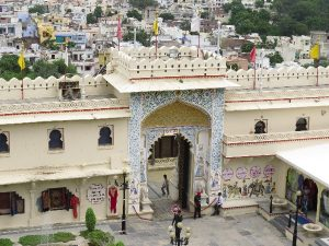 Gate viewed from palace. udaipur