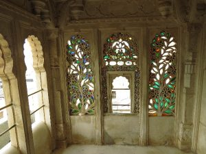 Stained glass windows at Udaipur City Palace, Rajasthan