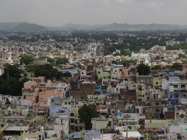 View of Udaipur from City Palace, Rajasthan