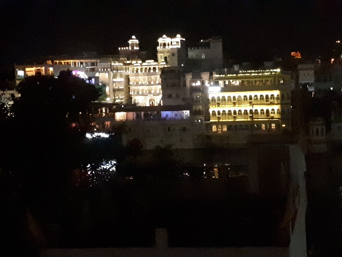Night View From Minerva Hotel, Udaipur , Rajasthan