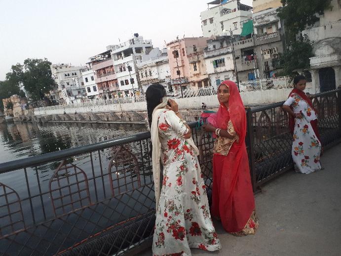 On the bridge, Udaipur, Rajasthan