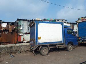 Slums on way to airport, Mumbai