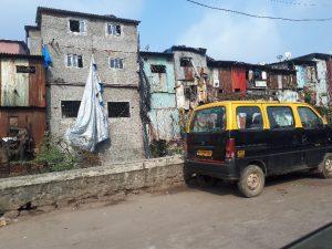Slum on way to airport, Mumbai