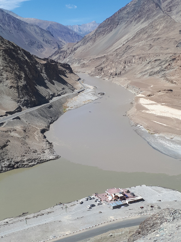 Zanskar and Indus rivers junction, Ladakh