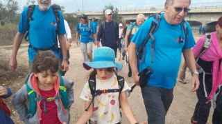 Almagor Hiking Group on the go. Israel
