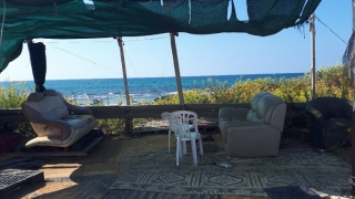 View over the sea from squtters colony, Hadera, Israel