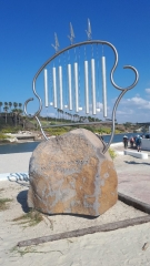 """Musical Sculpture, """"Beaches are Sometimes a Longing for the Sea"""", Hadera stream"""