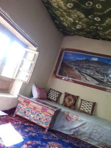 My room, Likir. Pic on wall from Tibet
