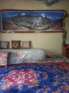 My room with Buddhist furniture. Likir Village