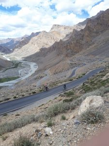 Cycling up to one of the highest passes, Ladakh