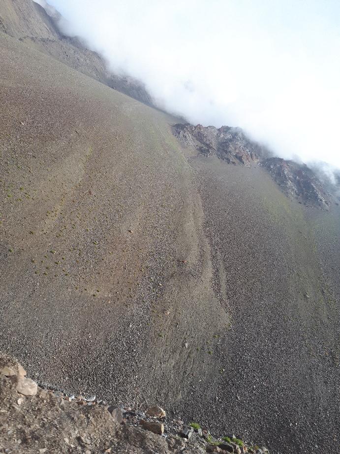 Massive erosion fan on road from Jispa to Leh, Ladakh