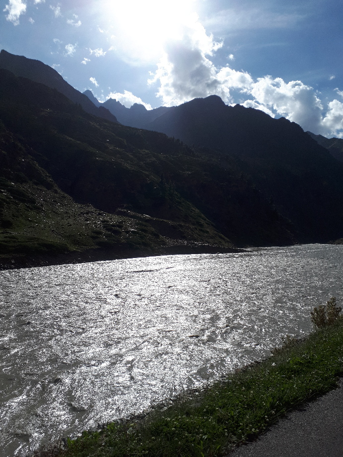 Bhaga River, Himachal Pradesh, on road to Jispa