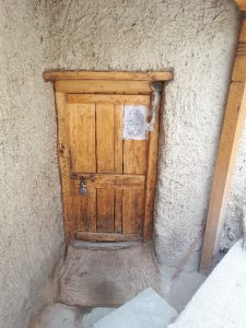 Wooden door, old Leh, on way to Leh ancient palace
