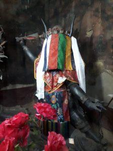 Demons covered faces. Namgyal Tsemo Monastery, Leh