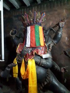 Demons. Namgyal Tsemo Monastery, Leh