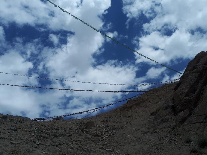 Flags, Namgyal Tsemo Monastery, Leh